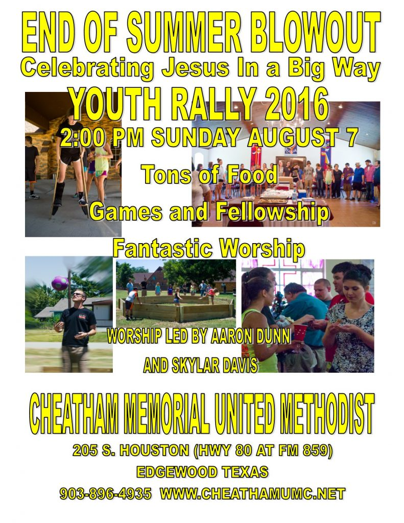 YOUTH RALLY 2016!!!!!
