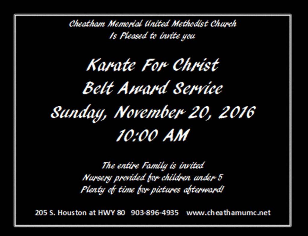 Belt Award Service