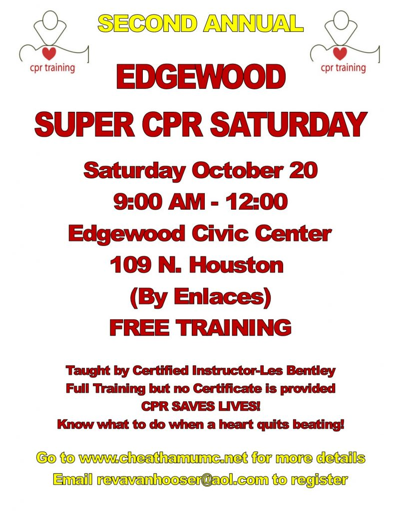 FREE TRAINING-SAVE A LIFE!