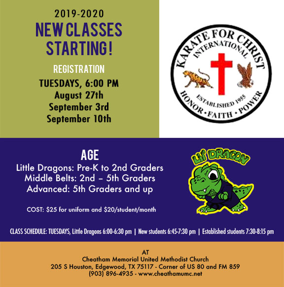 Karate For Christ 2019-2020